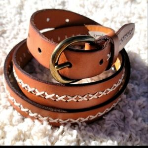 Fossil Leather Western Style Belt Size M